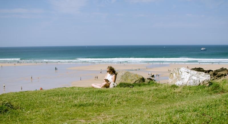 Fistral Beach during summer