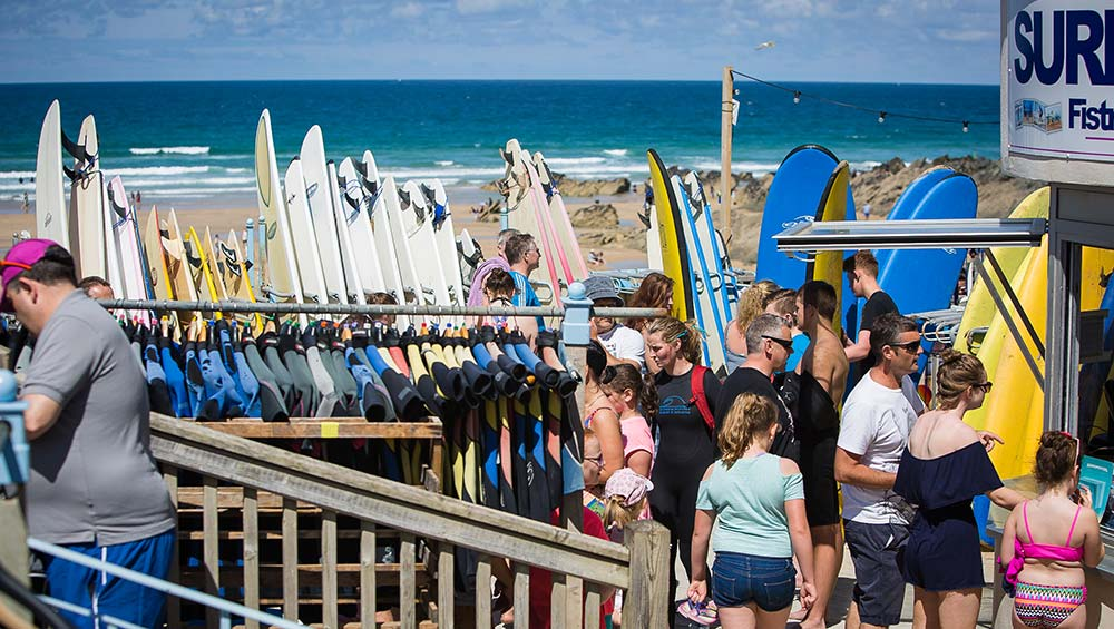Fistral Beach Surf Hire
