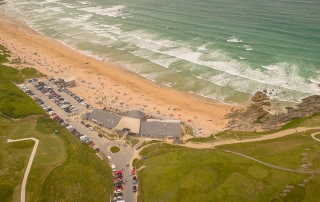Fistral Beach Surfing