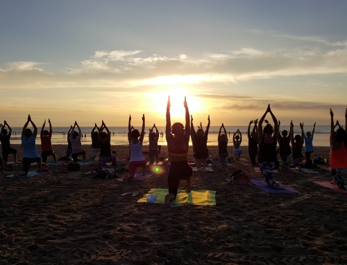 Silent Disco Yoga At Fistral Beach
