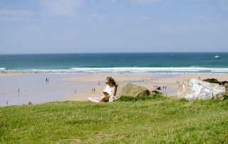 Fistral Beach during summer